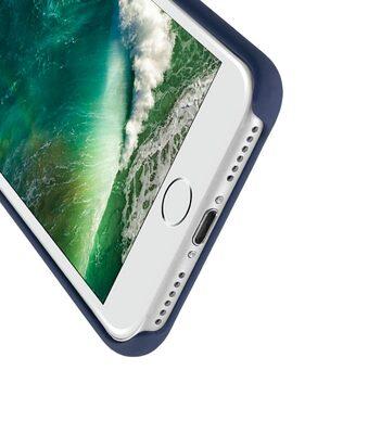 """Melkco Aqua Silicone Case for Apple iPhone 7 / 8 (4.7"""") - ( Dark Blue )"""