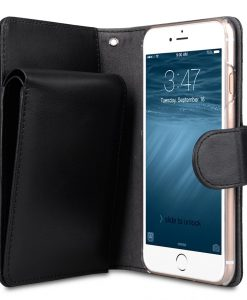 "Melkco Premium Leather Case for Apple iPhone 7 / 8 (4.7"") - B-Wallet Book Type (Black)"