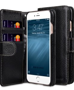 "Melkco Premium Leather Cases for Apple iPhone 7 / 8 (4.7"") - Wallet Book Type (Black LC)"