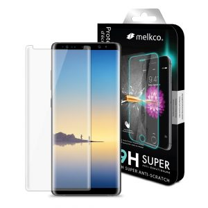 Melkco 3D Curvy 9H Tempered Glass Screen Protector for Samsung Galaxy Note 8 - (Transparent)