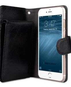 "Melkco Mini PU Leather Case for Apple iPhone 7 / 8 (4.7"") - B - Wallet Book Type (Black)"