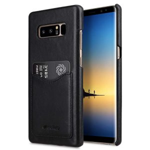 Premium Leather Card Slot Back Cover for Samsung Galaxy Note 8