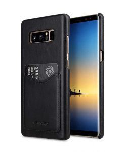 Melkco Premium Leather Card Slot Back Cover for Samsung Galaxy Note 8 - ( Vintage Black)Ver.2