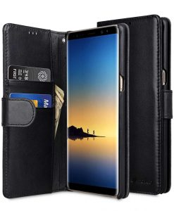 Melkco Premium Leather Case for Samsung Galaxy Note 8 - Wallet Book Type (Black)