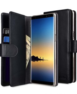 Melkco Premium Leather Case for Samsung Galaxy Note 8 - Wallet Plus Book Type (Black)