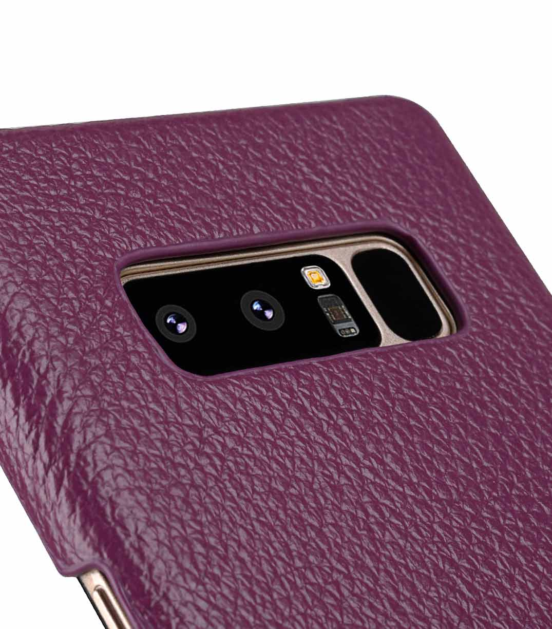 Premium Leather Snap Cover Case For Samsung Galaxy Note 8