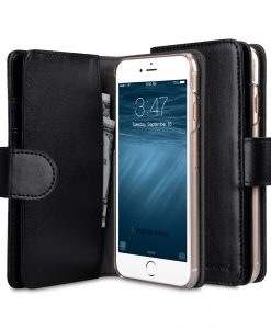 Melkco Mini PU Cases for Apple iPhone 6s / 6 - Wallet Plus Book Type (Black PU)