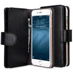 Melkco Mini PU Cases for Apple iPhone 6s / 6 - Wallet Plus Book Type (Black PU)