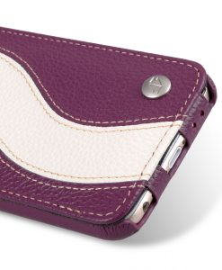 "Melkco Premium Leather Case for Apple iPhone 6 (4.7"") - Special Edition Jacka Type (Purple / White LC)"