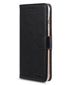 """Melkco Mini PU Leather Case for Apple iPhone 7 Plus (5.5"""") - Wallet Book Type with Stand Function (Black PU)"""