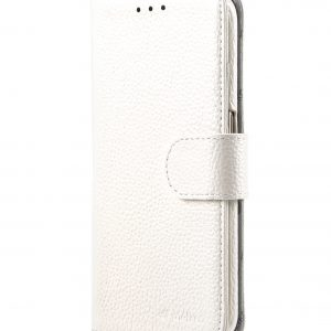 Melkco Premium Leather Cases for Samsung Galaxy S6 Edge - Wallet Book Type (White LC)