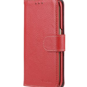 Melkco Premium Leather Cases for Samsung Galaxy S6 Edge - Wallet Book Type (Red LC)