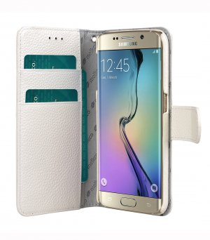 Premium Leather Cases for Samsung Galaxy S6 Edge - Wallet Book Type