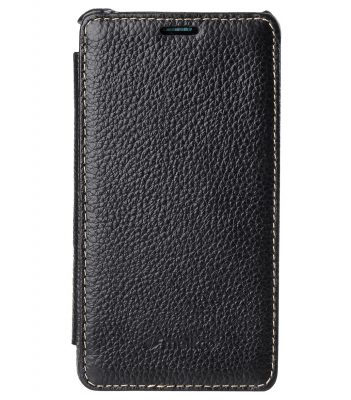 Melkco Premium Leather Case for Sony Xperia Z3 Compact D 5803 - Face Cover Book Type (Black LC)