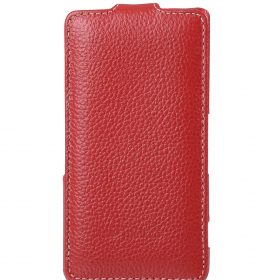 Melkco Premium Leather Case for Sony Xperia Z3 Compact / Z3 Mini- Jacka Type (Red LC)