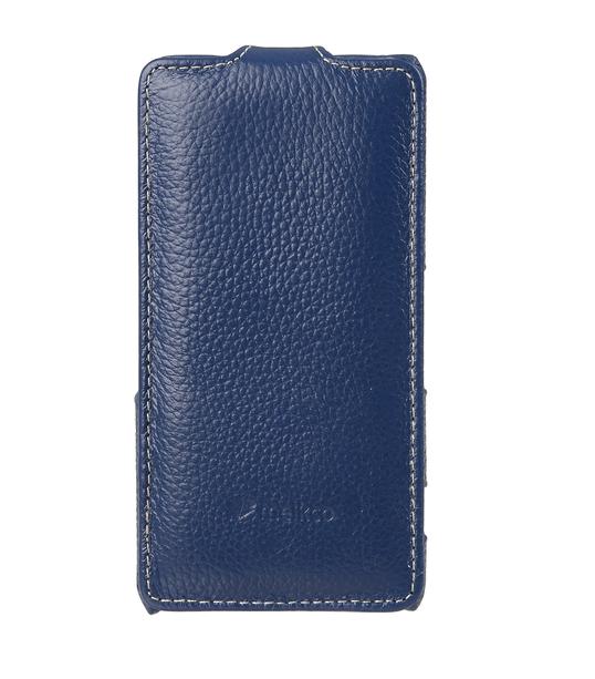 Melkco Premium Leather Case for Sony Xperia Z3 Compact / Z3 Mini- Jacka Type (Dark Blue LC)