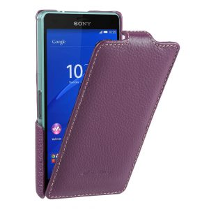 Melkco Premium Leather Case for Sony Xperia Z3 Compact / Z3 Mini- Jacka Type (Purple LC)