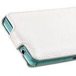 Melkco Premium Leather Case for Sony Xperia Z3 Compact / Z3 Mini- Jacka Type (White LC)