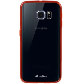 Melkco PolyUltima Cases for Samsung Galaxy S6 Edge – Transparent Red