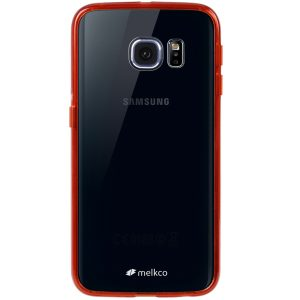 Melkco PolyUltima Cases for Samsung Galaxy S6 Edge - Transparent Red
