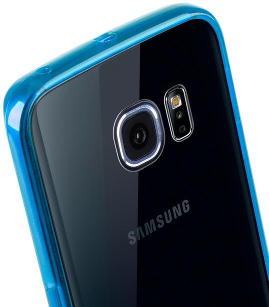 Melkco PolyUltima Cases for Samsung Galaxy S6 Edge - Transparent Blue