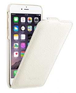 """Melkco Premium Leather Cases for Apple iPhone 6 (4.7"""") - Jacka Type (White LC)"""
