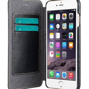 """Melkco Premium Leather Cases for Apple iPhone 6 (5.5"""") - Face Cover Book Type (Ver.3) (Black LC)"""