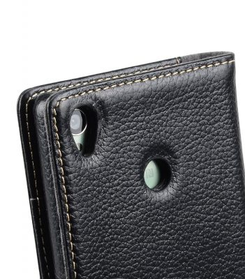 Melkco Premium Leather Cases Wallet Book Type (ver.7) for Xperia Z3 - Black LC