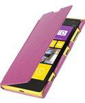 Melkco Premium Leather Case for Nokia Lumia 1020 - Face Cover Book Type (Ver.2) - (Purple LC)