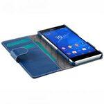 Melkco Premium Leather Cases Wallet Book Type (ver.7) for Xperia Z3 - Dark Blue LC