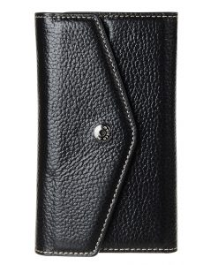 Melkco Premium Leather Case for Apple iPhone 5S/5 /SE– Folio Book Type (Black LC)
