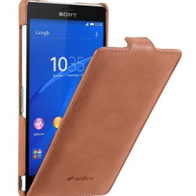 Melkco Premium Leather Cases for Sony Xperia Z3 D6653 – Jacka Type (Classic Vintage Brown)