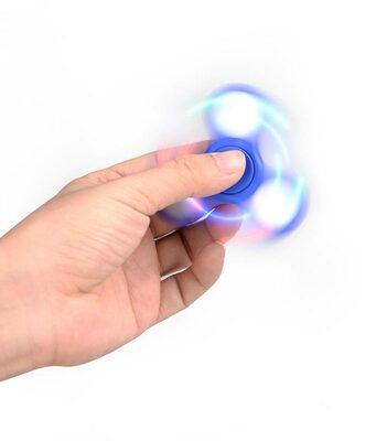 i-mee LED Light Tri-Bar Fidget Spinner - Light Blue