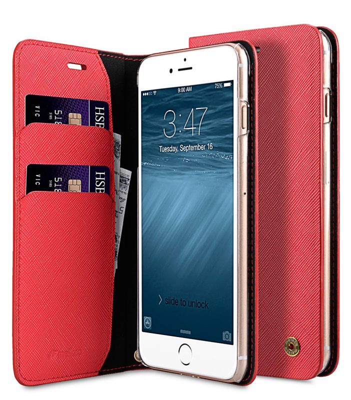 Melkco Fashion Cocktail Series slim Filp Case for Apple iPhone 7 Plus(5.5')(Fluorescent Red)