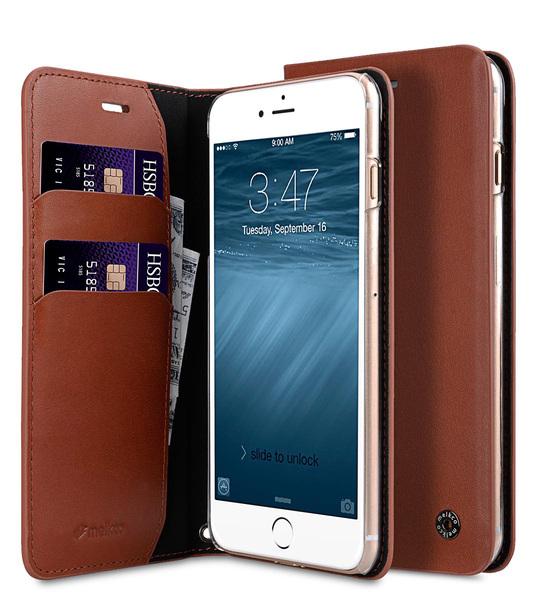 Melkco Fashion Cocktail Series slim Filp Case for Apple iPhone 7 Plus(5.5') (Italian Orange Brown)