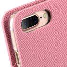 Melkco Fashion Cocktail Series slim Filp Case for Apple iPhone 7 Plus(5.5') (Pink Cross pattern)