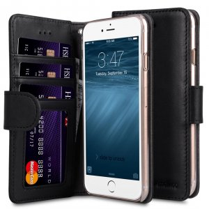 """Premium Leather Case Wallet Book ID Slot Type for Apple iPhone 7 / 8 (4.7"""")"""