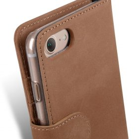 """Melkco Premium Leather Case Wallet Book ID Slot Type for Apple iPhone 7 / 8 (4.7"""") (Classic Vintage Brown)"""