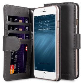 "Melkco Premium Leather Case Wallet Book ID Slot Type for Apple iPhone 7 / 8 (4.7"") (Grey Wax)"
