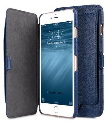 "Melkco Premium Leather Case for Apple iPhone 7 / 8 Plus(5.5"") - Booka Pocket Type (Dark Blue LC)"