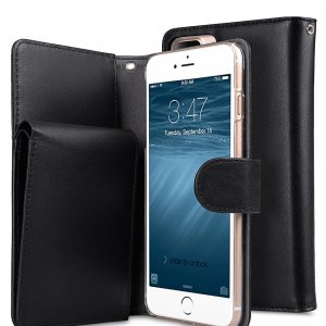 """Premium Leather Case for Apple iPhone 7 / 8 Plus (5.5"""") - B-Wallet Book Type"""