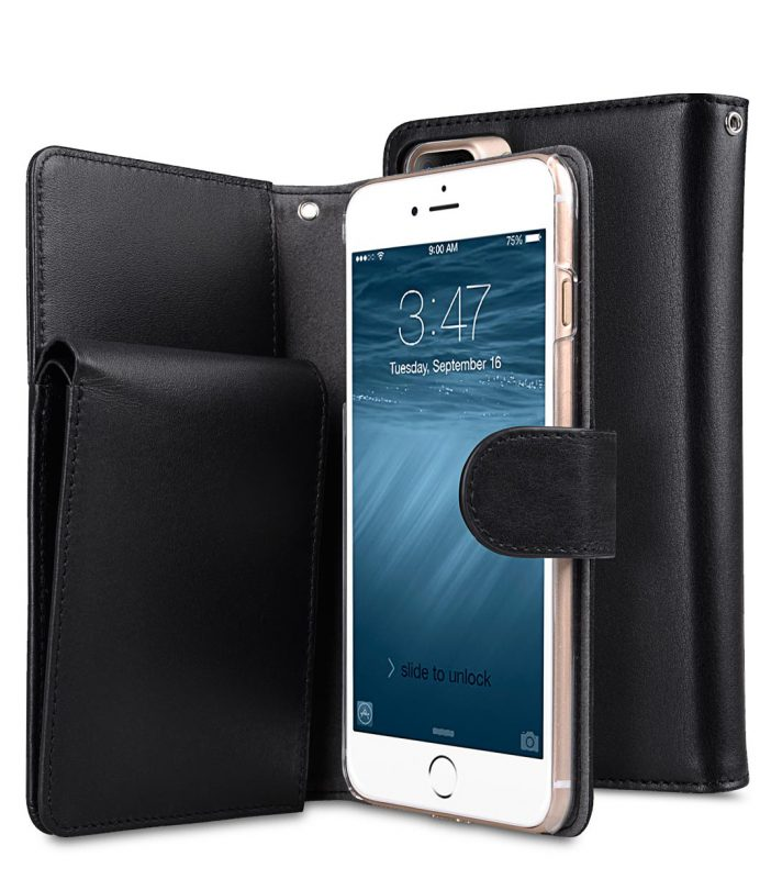 "Premium Leather Case for Apple iPhone 7 / 8 Plus (5.5"") - B-Wallet Book Type"