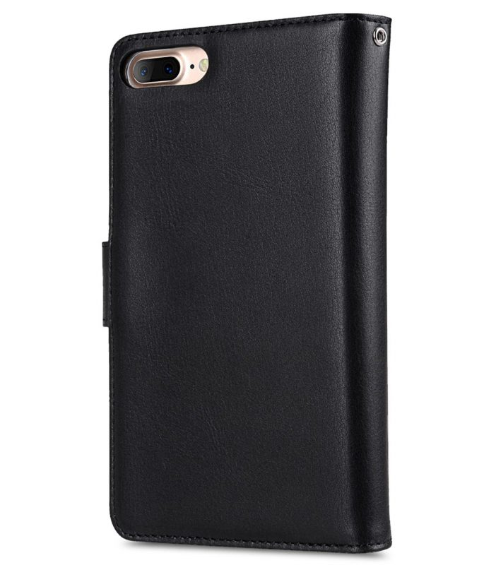 "Melkco Premium Leather Case for Apple iPhone 7 / 8 Plus (5.5"") - B-Wallet Book Type (Black)"
