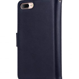 "Melkco Premium Leather Case for Apple iPhone 7 / 8 Plus(5.5"") – B-Wallet Book Type (Dark Blue)"