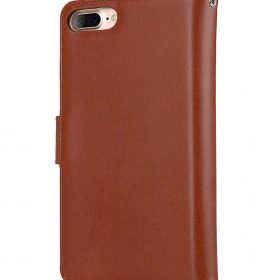 "Melkco Premium Leather Case for Apple iPhone 7 / 8 Plus(5.5"") – B-Wallet Book Type (Orange Brown)"
