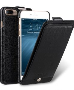 "Melkco Premium Leather Case for Apple iPhone 7 / 8 Plus (5.5"") - Jacka Pocket Type(Black LC)"
