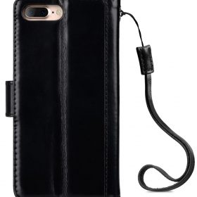 "Melkco Premium Genuine Leather Kingston Style Case for Apple iPhone 7 / 8 Plus (5.5"") – (Black Wax)"