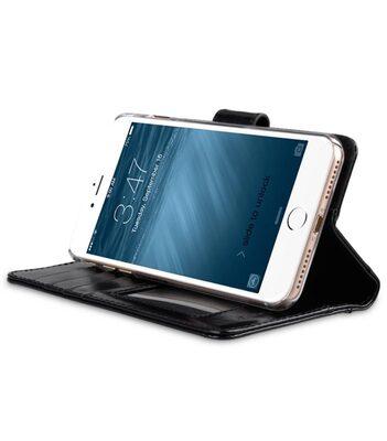"Melkco Premium Genuine Leather Kingston Style Case for Apple iPhone 7 / 8 Plus (5.5"") - (Black Wax)"