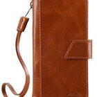 "Melkco Premium Italian Genuine Leather Kingston Style Case for Apple iPhone 7 / 8 Plus (5.5"") – (Brown Wax)"
