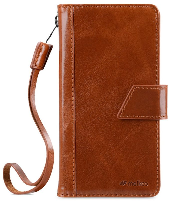 "Melkco Premium Italian Genuine Leather Kingston Style Case for Apple iPhone 7 / 8 Plus (5.5"") - (Brown Wax)"